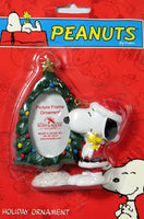 ADLER SNOOPY AND WOODSTOCK TREE PICTURE FRAME ORNAMENT