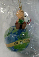 ADLER CHARLIE BROWN AND SNOOPY ON EARTH ORNAMENT