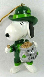 ADLER SNOOPY POT O' GOLD ORNAMENT
