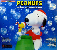 Bubble Blowing Snoopy Santa Toy