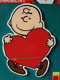 ADLER CHARLIE BROWN HEART ORNAMENT
