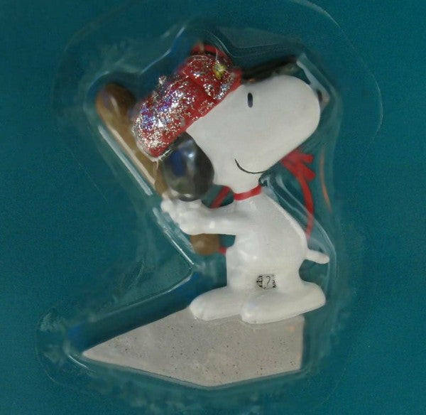 ADLER SNOOPY BASEBALL ORNAMENT