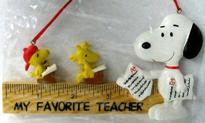 ADLER SNOOPY TEACHER ORNAMENT - REDUCED PRICE!