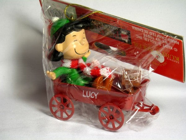 ADLER LUCY IN METAL WAGON ORNAMENT