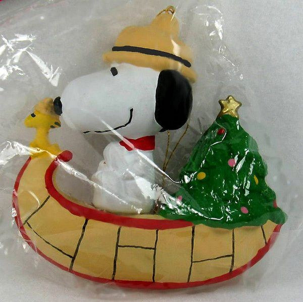 ADLER SNOOPY CANOE ORNAMENT