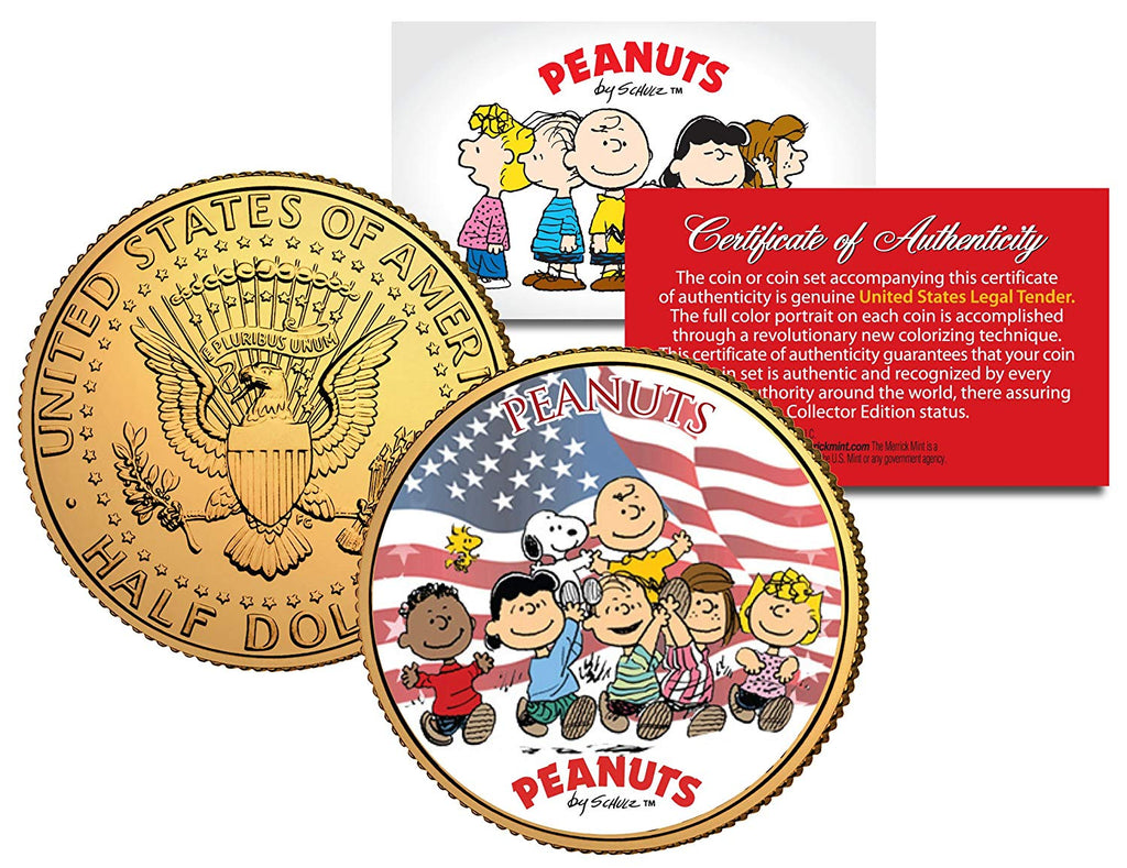 1976 PEANUTS SNOOPY * Original Gang * 24K Gold Plated IKE Dollar - Each Coin Serial Numbered of 376 - Licensed