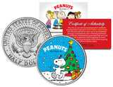 Snoopy Christmas  JFK Kennedy Half Dollar U.S. Coin - Licensed