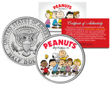 Peanuts Gang Colorized JFK Kennedy Half Dollar U.S. Coin - Licensed