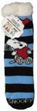 Peanuts Sherpa-Lined Crew-Length Slipper Socks - Snoopy Love