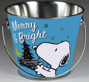 Peanuts Tin Christmas Pail - Merry and Bright