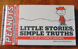 THE JOY OF A PEANUTS CHRISTMAS:  LITTLE STORIES, SIMPLE TRUTHS Hardback Gift Book
