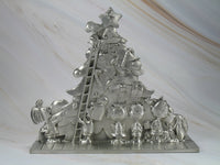 Peanuts Solid Pewter Christmas Decor - RARE!