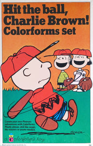 Hit The Ball Charlie Brown! Colorforms Set
