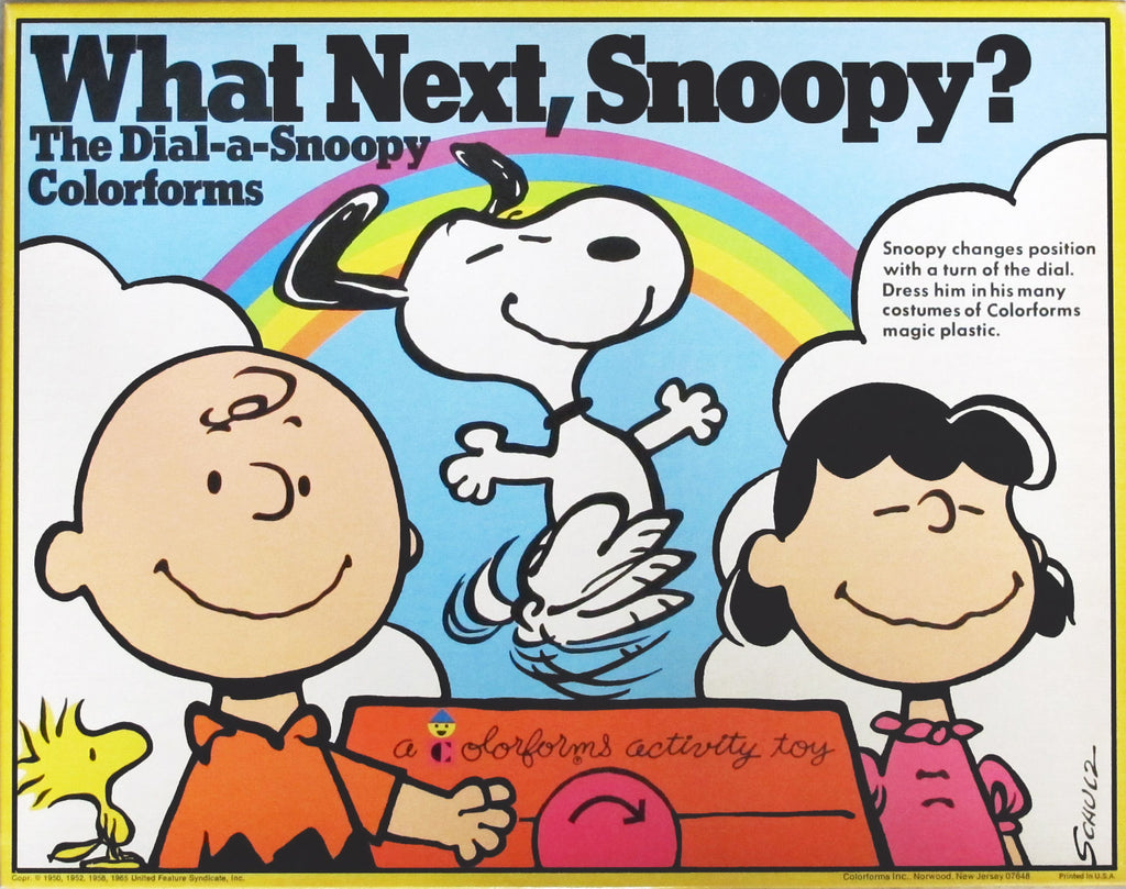 What Next, Snoopy? Large Colorforms Set (Dial-A-Snoopy Design)