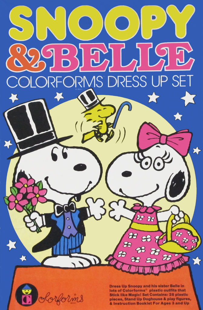 Snoopy and Belle Colorforms Set