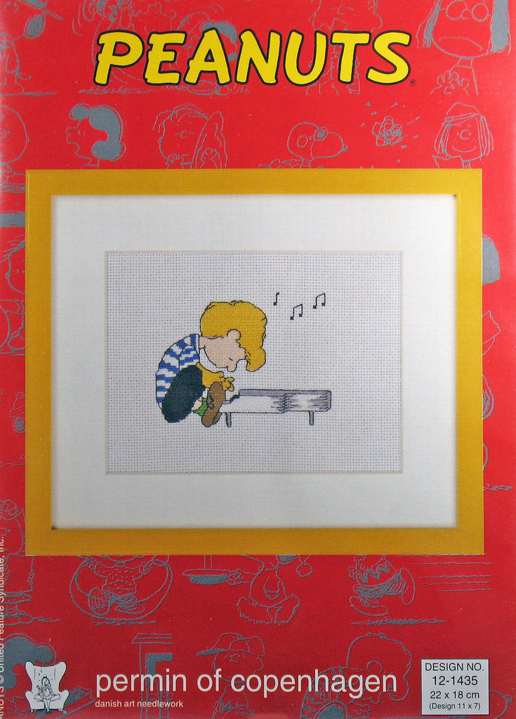 Peanuts Cross Stitch Kit (Imported From Denmark) - Schroeder