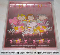 Peanuts Gang Reflective Table Mirror With Glitter Accents
