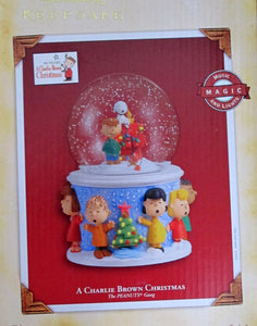A Charlie Brown Christmas Musical and Lighted Christmas Snow Globe