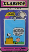 Flip-Over Key Chain - Charlie Brown and Snoopy