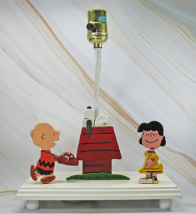 Peanuts Vintage Wooden Combination Lamp and Night Light - SUPER RARE!