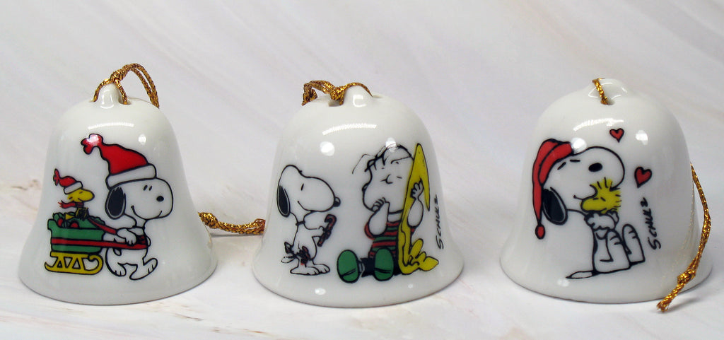 Snoopy Mini Bell Christmas Ornament