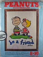 Peanuts Crewel Stitchery Kit -  Linus and Sally