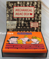 Butterfly Originals Peanuts Mechanical Memo Box - RARE JAPANESE SAMPLE!