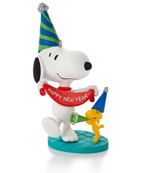 2014 Peanuts 12 Months Of Fun Christmas Ornament - January (6th)