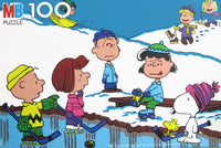 Peanuts Playing Hockey Vintage Jigsaw Puzzle