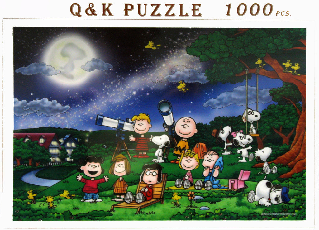 Peanuts Star Gazing Wood Jigsaw Puzzle - RARE!