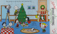 Peanuts Christmas Puzzle Card With Mailing Envelope