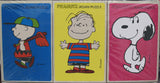 Charlie Brown, Linus, and Snoopy Vintage Jigsaw Puzzle Set