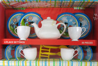 Peanuts Vintage Ohio Art Toy Tin Tea Set - RARE!