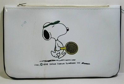 Snoopy Tennis Player Pencil Bag