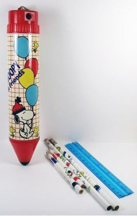 Snoopy and Friends Pencil-Shaped Pencil Box