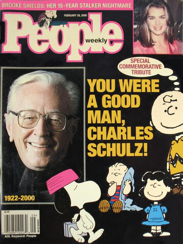 People Magazine (Feb. 28, 2000) - Charles Schulz Cover and Article