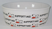 Snoopy Ceramic Pet Bowl - Suppertime!
