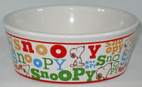 Snoopy Ceramic Pet Bowl - Snoopy Name