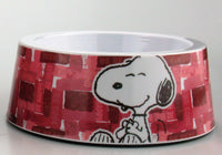 Snoopy Small Melamine Pet Bowl With Non-Skid Base