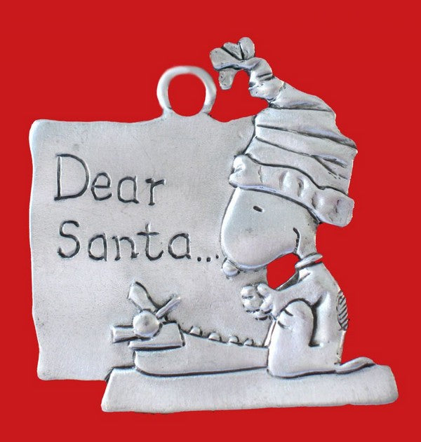 DEAR SANTA LETTER PEWTER ORNAMENT