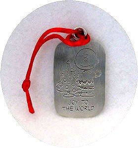 JOY TO THE WORLD PEWTER ORNAMENT