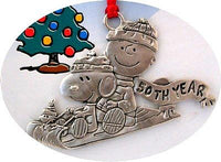 50th ANNIV. CHARLIE BROWN AND SNOOPY PEWTER ORNAMENT