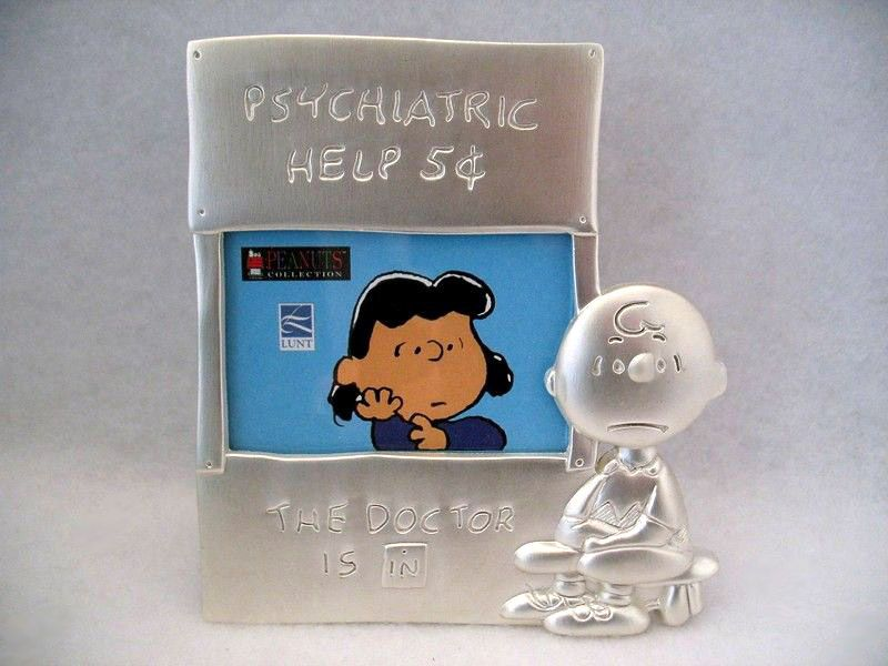 Lucy's Psych Booth Solid Pewter Picture Frame