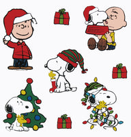 8-Piece Peanuts Gang Christmas Jelz Window Cling Set - SPECIAL LOW PRICE!