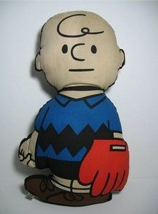 Charlie Brown Ball Player Pillow Doll