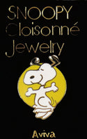Dancing Snoopy Cloisonne Pin