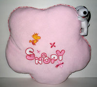 Large Snoopy Pillow + Plush Doll - Pink