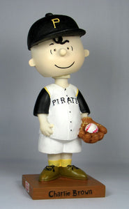 2003 Limited-Edition Charlie Brown Pittsburgh Pirates Bobblehead With Game Ticket! - RARE!