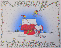 Snoopy Laminated Christmas Place Mat