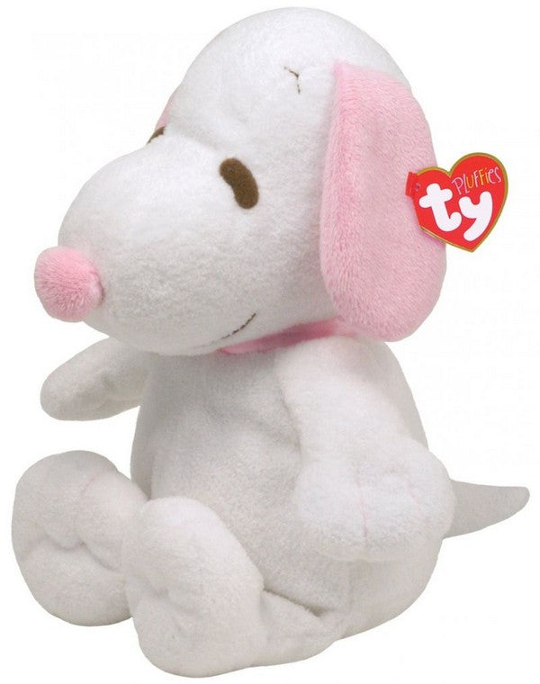 Snoopy Pluffie Musical Plush Doll - White and Pink